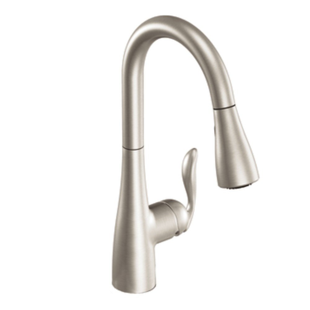 moen high arc pull down kitchen faucets