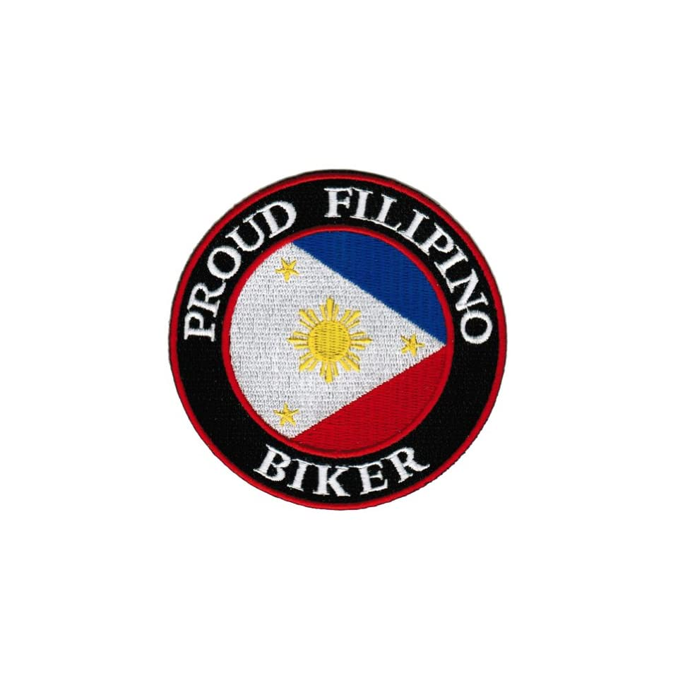 PROUD TO BE FILIPINO embroidered iron-on PATCH PHILIPPINES FLAG PINOY