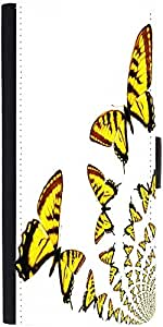 Snoogg Kaleidoscopic Butterflies Graphic Snap On Hard Back Leather + Pc Flip ...