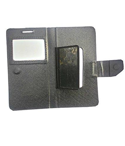 brand new 88ff6 05925 AravStore Premium Sview Flip Cover Case For Intex Aqua Power HD 4G - Black