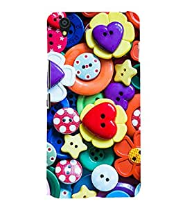 printtech Colorful Button Design Back Case Cover for One Plus X