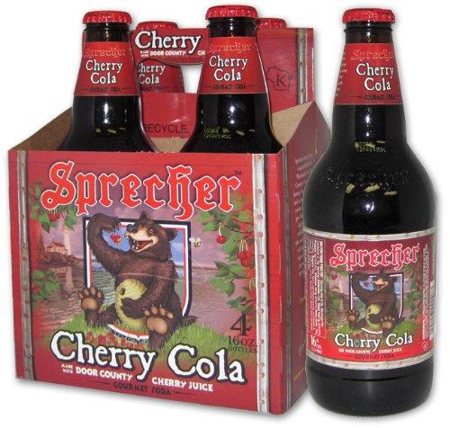 SPRECHER Gourmet Soda CHERRY COLA with DOOR COUNTY CHERRY JUICE 16 oz. (Pack of 12) (Sprecher Soda compare prices)