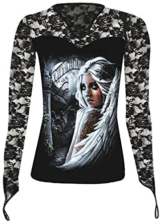 Spiral Direct City Of Angels Red Rose Ladies Long Sleeved ...