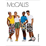 McCall's Patterns M6104 Misses'/Men's/Teen Boys' Boxer Shorts In 3 Lengths, Size MED