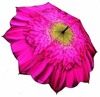 Galleria Big Flower Auto Open Stick Umbrella - Gerbera Daisy