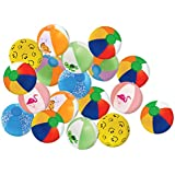 "Kangaroo's 25 pk of 6"" Mini Beach Balls - Assorted Designs"