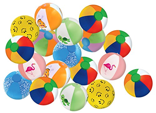 Kangaroos-8-Beach-Balls-25-Pack-Summer-Birthday-Party-Favors