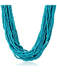Poetry Accessories Choker Necklace For Women (Blue) (PAOL-216)
