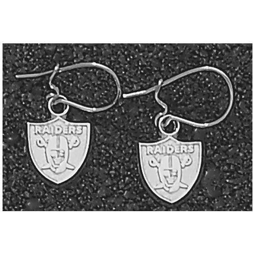LogoArt Oakland Raiders Sterling Silver Team Logo Dangle Earrings