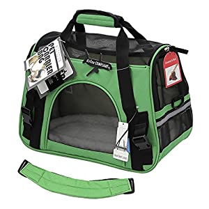 """OxGord Pet Carrier Soft Sided Cat / Dog Comfort """"FAA Airline Approved"""" Travel Tote Bag - 2015 Newly Designed, Small, Spinach Green"""