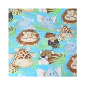 ArtOFabric Fleece Printed Baby Jungle Animals Throw Blanket 58 Inch By 72 Inch