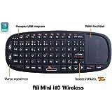 Rii Mini i10 teclado inalámbrico con ratón táctil - compatible con android, windows, linux y Raspbeery Pi, Smart TV,PlayStation, Xbox, HTPC