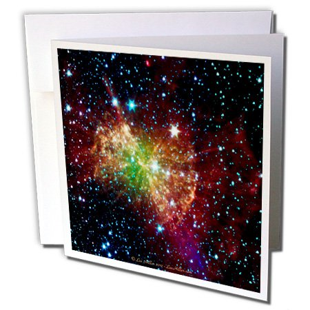 Lee Hiller Designs Space - In the Cosmos - Dumbbell Nebulapia - 12 Greeting Cards with envelopes (gc_61548_2)