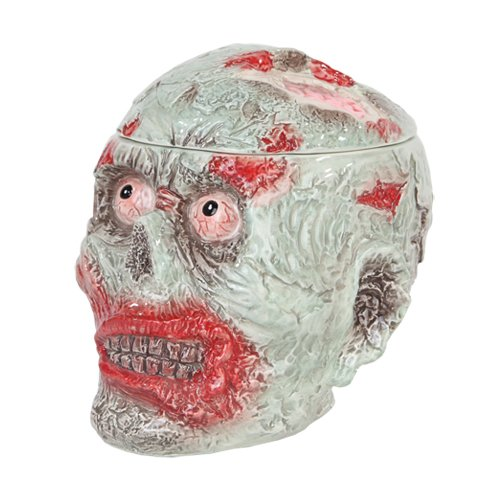 Zombie Head Halloween Ceramic Cookie Jar