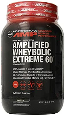 GNC Pro Performance AMP Amplified Wheybolic Extreme 60 Ripped - 44.89oz, 2.81 Lbs