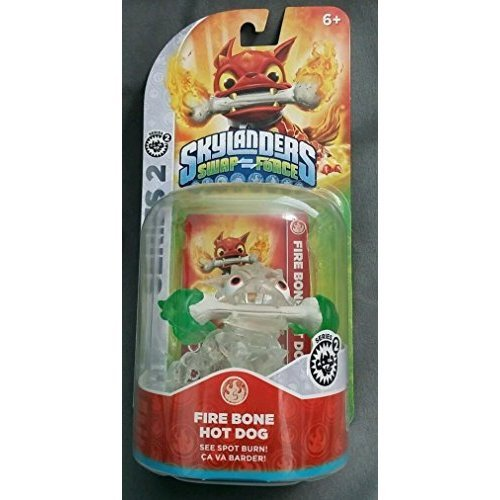 CRYSTAL CLEAR Fire Bone Hot Dog GREEN FLAMES VARIANT Skylanders SWAP Force Frito-Lay Promo Exclusive (Hot Dog Trap Team compare prices)