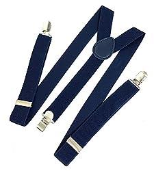 Michelangelo Metal Clip Suspenders (Navy)