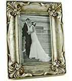 """Antique Silver Vintage Ornate Shabby Chic Picture Photo Frame 4"""" X 6"""""""