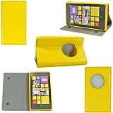 Etui luxe Nokia Lumia 1020 Ultra Slim jaune Cuir Style avec stand - Housse coque de protection Nokia Lumia 1020 jaune - Prix découverte accessoires pochette XEPTIO : Exceptional case !