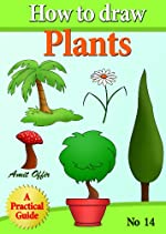 children book - how to draw trees, flowers and plants (how to draw comics and cartoon characters)