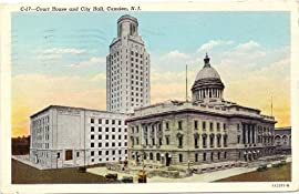 1940s Vintage Postcard Court House and City Hall Camden New Jersey