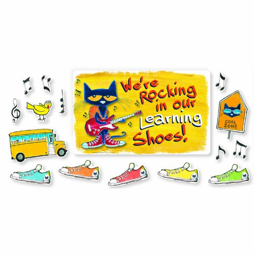 Edupress EP-2383 Were Rocking In Our Learning Shoes (Pete The Cat Bulletin Board Set compare prices)