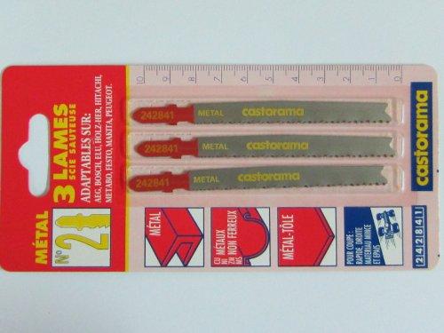 3 Stichsägeblätter No. 2 T-Schaft, für Metall, Bosch Nummer T123X