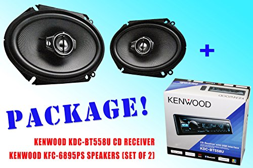 Package ! Kenwood Kdc-Bt558U Cd-Receiver + Kenwood Kfc-C6895Ps Car Speakers