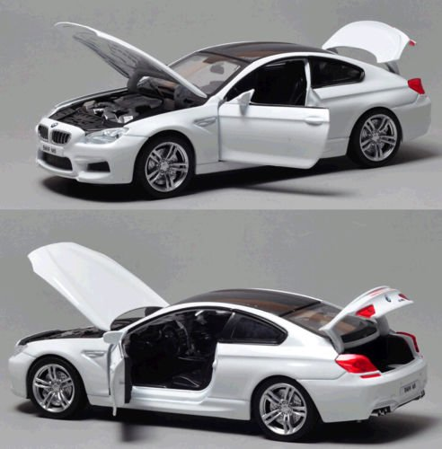 Brand New 1:32 BMW M6 Diecast Car Model Collection Sound&Light Colour White (Audi A8 Model Car compare prices)