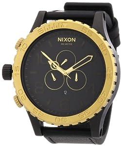 Nixon Herren-Armbanduhr Chronograph Leder A1241036-00