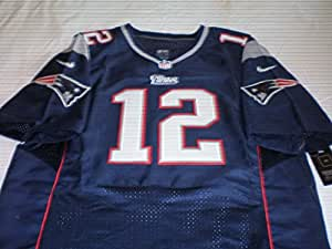 New England Patriots Tom Brady Blue On-field Jersey Size (Large) 44