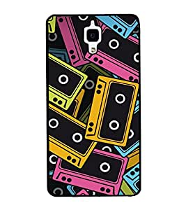 printtech Pop Cassettes Music Back Case Cover for Xiaomi Redmi Mi4 , Xiaomi Mi 4