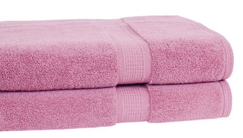 Calcot Growers Collection 100-Percent Zero-Twist Supima Cotton 2-Piece Oversized Bath Sheet/Towel Set, Cherry Blossom