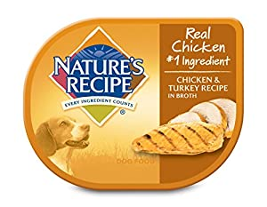 Nature's Recipe Chicken & Turkey Recipe In Broth Wet Dog Food Cup (24 Pack), 2.75 oz
