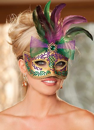 Shirley Of Hollywood Women's Golden Mardi Gras Mask Mardi Gras Masks Gold/Purple