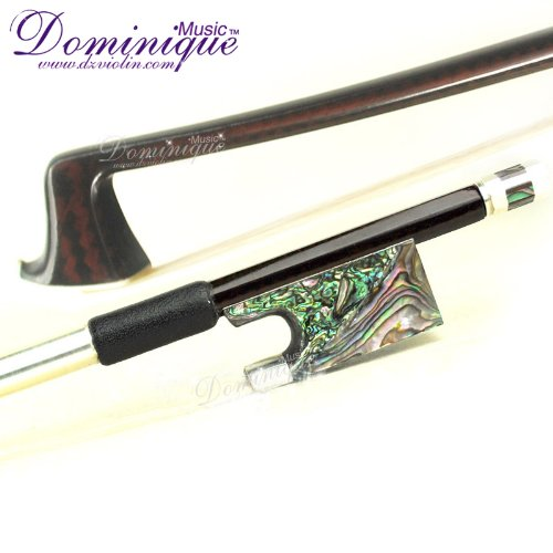 Master Coffee Color Carbon Fiber 4/4 Violin Bow With Abalone Frog-D Z Strad