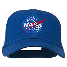 NASA Insignia Embroidered Cotton Twill Cap - Royal OSFM