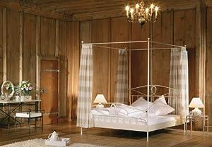 stilbetten bett metallbetten himmelbett zoe metall 140x200. Black Bedroom Furniture Sets. Home Design Ideas