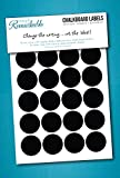 "40 Circle Chalk Labels - Chalkboard Labels - 1 1/4"" Circles - Chalkboard Stickers"