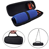 PU Carry Travel Protective Speaker Cover Case Pouch Bag For JBL Charge 3 Charge3 Extra Space for Plug & Cables (With Belt)