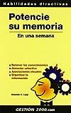 img - for Potencie Su Memoria En Una Semana (Spanish Edition) book / textbook / text book