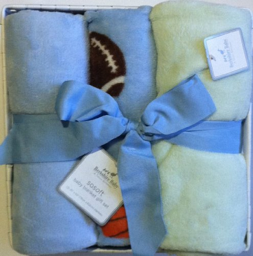 "SoSoft Sports Baby Blanket Gift Set ""A Touch Different"" - 1"