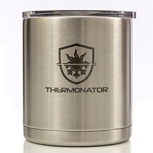 THERMONATOR 2X Insulated Stainless Steel Travel Tumbler- Best Cup for Icy Cold Drinks, Hot Coffee & Tea- 24 hours cold, 3-4 hot! Also available in Red