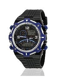 Yepme Mens Analog Digital Watch - Black/Blue