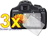 GUARMOR - 3x Canon EOS Rebel T3 Digital Camera Premium Clear LCD Screen Protector Cover Guard Shield Film Kit