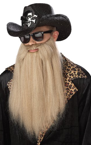 ZZ Top Sharp Dressed Man Beard, Blonde,
