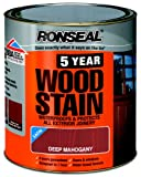 Ronseal 5YWDM750 750ml 5 Year Woodstain - Deep Mahogany