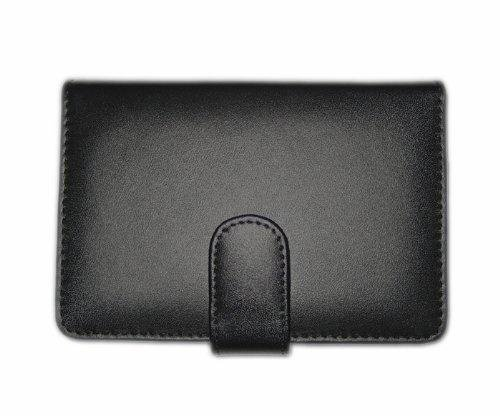 BLACK LEATHER BOOK CASE COVER