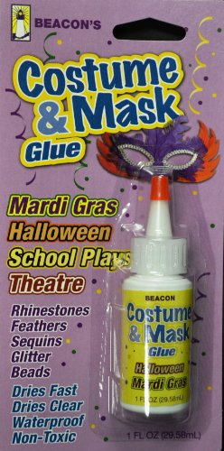 Beacon Costume & Mask Glue, 1-Ounce - 1