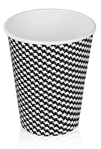 GS Insulated Hot Cups Checker Design (100 Count) (16 oz) (16oz Coffee Cups 100 compare prices)